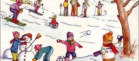 Zimowe zabawy na śniegu!