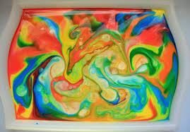 Eksperyment -Malowanie na mleku