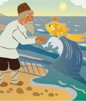 Teatrzyk w przedszkolu – Bajka o rybaku i złotej rybce